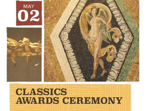 Title: Classics Awards Ceremony, Hellenistic Golden Crown, Nike Mosaic