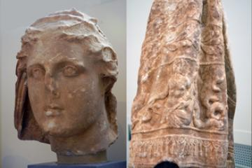 Two Statues from the Temple of Despoina